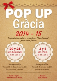 "POP UP GRACIA 2014-15: showroom de creaciones ""hand made"""