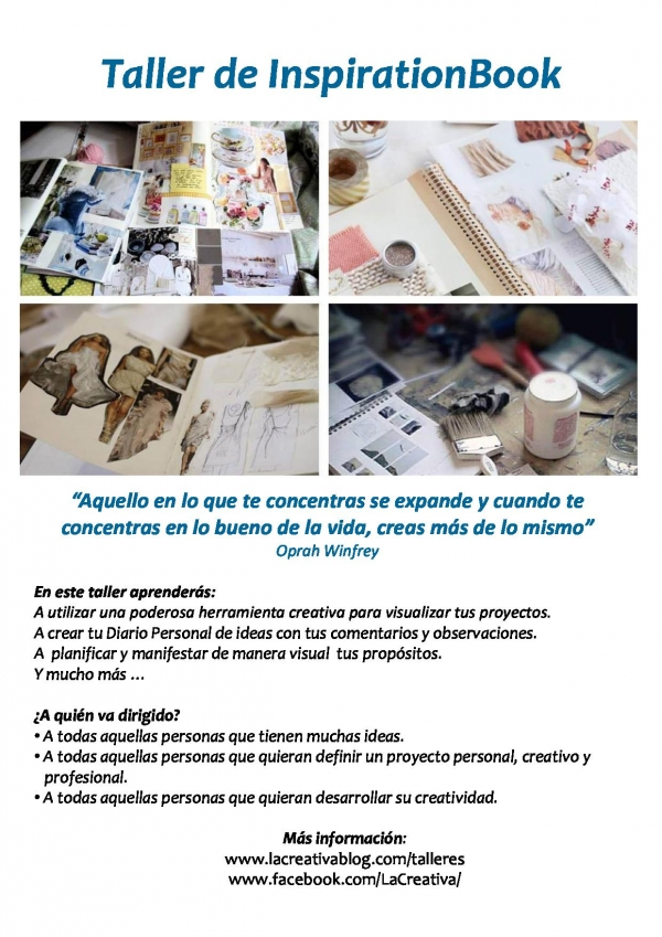 Taller de InspirationBook - Lacreativablog